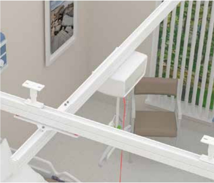 Liko Non-Bariatric Overhead Lift (Straight Rail Ceiling Mount)