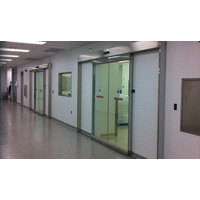 Industrial Door System with Flush Steel Door Panels image