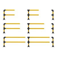 "Ironflex 4"" Double Rail Guarding Modules image"