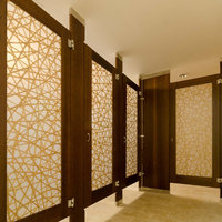 Ironwood Manufacturing, Co. - Toilet Partitions image | Wood Veneer with Door Lites