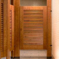 Ironwood Manufacturing, Co. - Toilet Partitions image | Wood Veneer Louvers