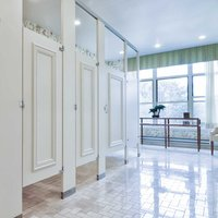 Ironwood Manufacturing, Co. - Toilet Partitions image | Wood Veneer Privacy - Zero Sightline