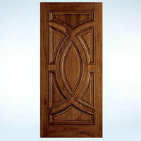 Custom Wood All Panel Exterior Door  image
