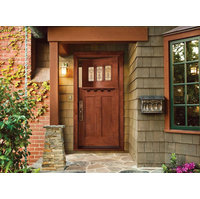 Custom Wood Glass Panel Exterior Door  image