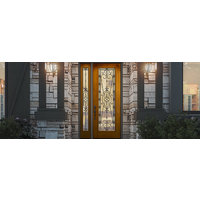 Aurora® Custom Fiberglass Glass Panel Exterior Door image