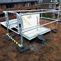 Roof Egress Safety Railings image