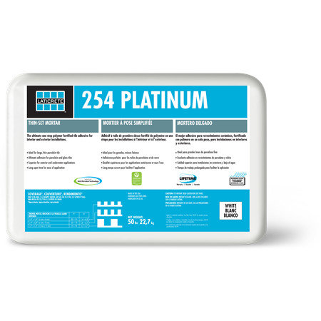 254 Platinum Thin-Set Mortar