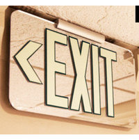 UL Listed Lucite Mirrored Exit Sign image
