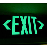 UL Listed Lucite Mirrored Exit Sign (double-sided) image