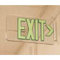 UL Listed Lucite Clear Exit Sign image