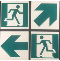 "6"" x 6"" Modular Running Man Sign with Arrow image"