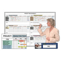 Project Management Magnetic Whiteboard System Kits image