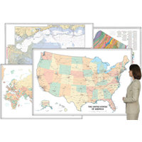 Magnetic Dry-Erase Whiteboard Maps & Magnetic Map Kits. image