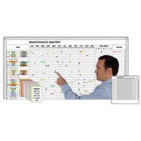 Plant and Equipment Maintenance Magnetic Whiteboard Scheduling System Kits image
