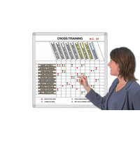 Training Schedules Magnetic Whiteboard System Kits image