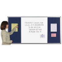 ComboBoards® Magnetic dry-erase steel Whiteboard with CorkTack� or FabricTack® Bulletin Panel Sections image