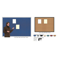 FabricTack® Executive Boardroom-Style Framed Office Fabric Bulletin Boards image
