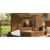 Outdoor Wood Fireplace image