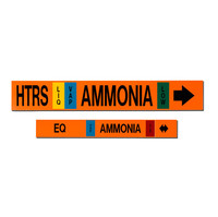 MS-900 Self-Adhesive Ammonia Refrigeration Pipe Markers image