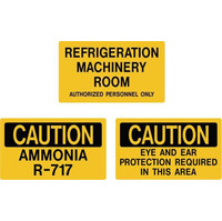 Ammonia Indentification Auxiliary Door Signs image
