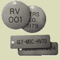 Type 316 Stainless Steel Metal Valve Tags image