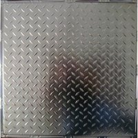 #Diamond Plate Tin/Metal Ceiling Tile image