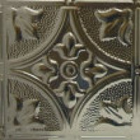#102 Arcing Diamond & Floral Coin Design - 12 Inch Tile image