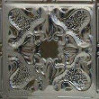 #105 Vintage Gothic Arabesque Flower Design - 12 Inch Tile image