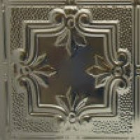 #116 Camelot Design with a Hammered Metal Border- 12 Inch Tile image