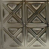 #131 Contemporary X Design with a Hammered Finish - 12 Inch Tile image