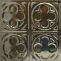 #135 Small Four Leaf Clover Medieval Design - 12 Inch Tile image