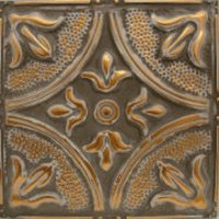"Solid Copper/12"" x 12"" Velvet Brown Faux Finish  image"
