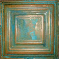 "Solid Copper/Patina 12"" x 12"" Tiles  image"