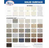 Solid Surface Color Chart image