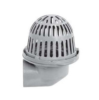 R100-90 Cast Iron Roof Drain with Aluminum Dome and Side Outlet image