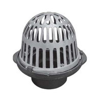 R100-M Cast Iron Roof Drain with Aluminum Dome image