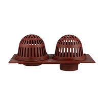 R150 Cast Iron Combined Roof Drain with Aluminum Domes and Overflow Standpipe image