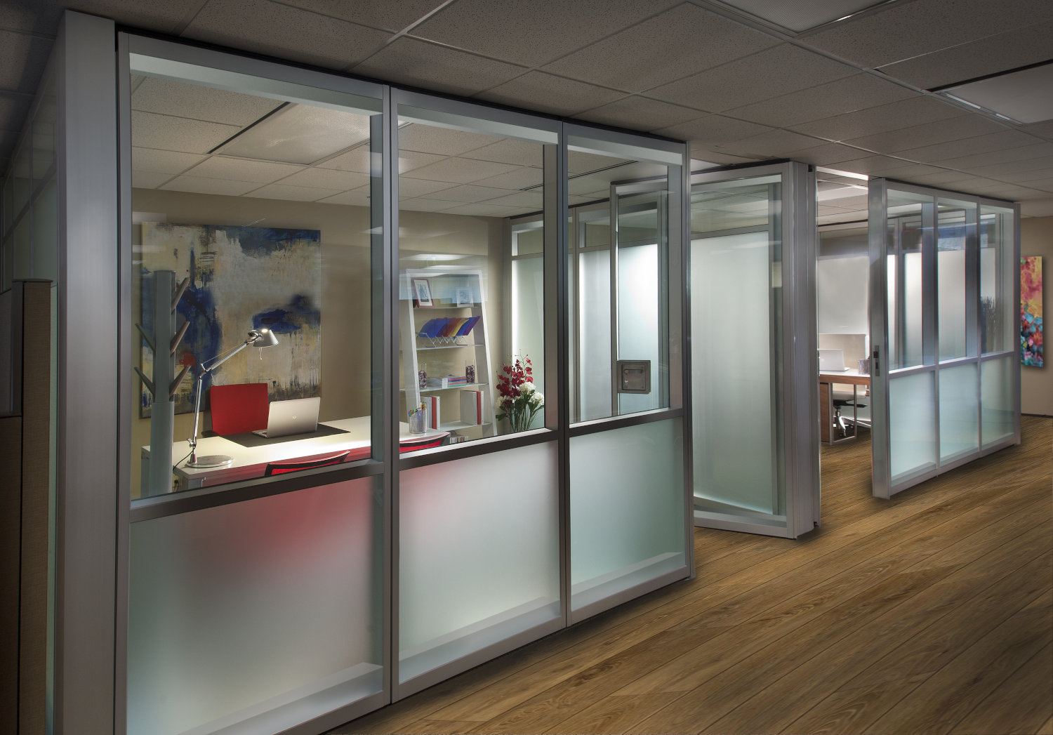 Acoustic Movable Glass Wall System