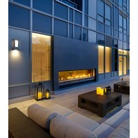 Gas Fireplace - Custom Commercial - 9ft Modern Indoor/Outdoor image
