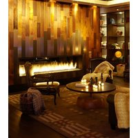 Gas Fireplace - Custom Commercial - 9ft Modern See Through image