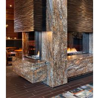 Gas Fireplace - Custom Commercial - 9ft Modern Pier image