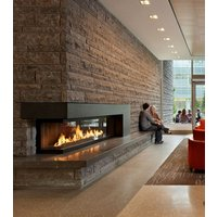 Gas Fireplace - Custom Commercial - 9ft Modern Corner image