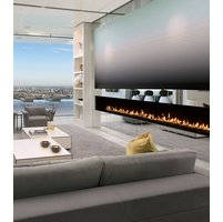 Gas Fireplace - Custom Commercial - 9ft Modern Single Sided image