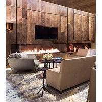Gas Fireplace - Custom Commercial - 8ft Modern Bay image