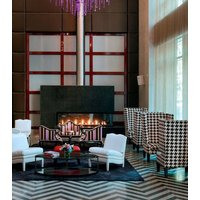 Gas Fireplace - Custom Commercial - 8ft Modern Corner image