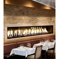 Gas Fireplace - Custom Commercial - 8ft Modern Single Sided image