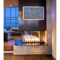 Gas Fireplace - Custom Commercial - 7ft Modern Pier image