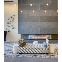 Gas Fireplace - Custom Commercial - 7ft Modern Bay image