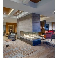Gas Fireplace - Custom Commercial - 6ft Modern Pier image