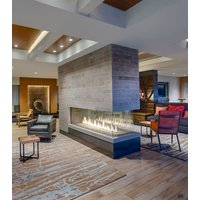 Gas Fireplace - Custom Commercial - 5ft Modern Pier image